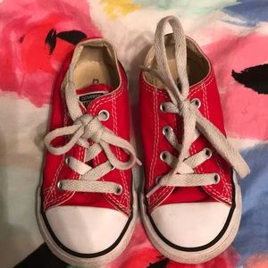Red Low-Top Converse- Youth